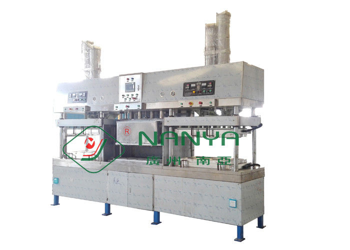 Small Manual Paper Plate Making Machine 12 Months Warranty Drying In Molds