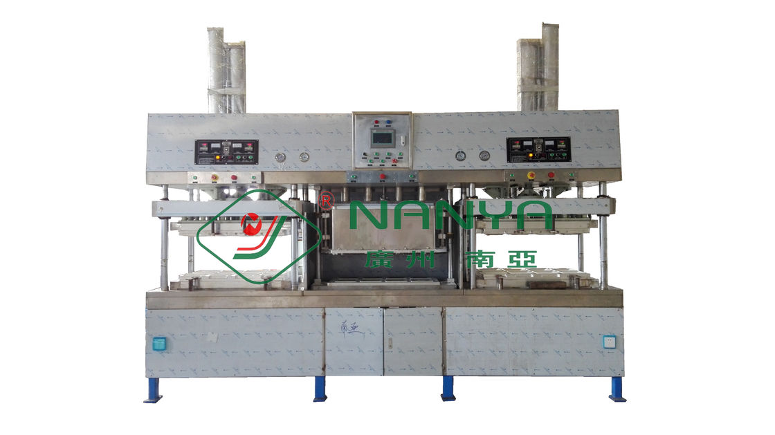 Manual Wood Pulp Paper Plate Making Machine Dishware Production Line