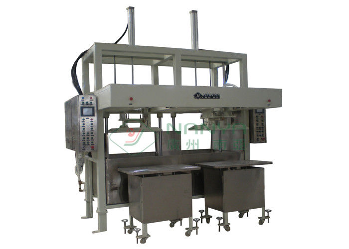 Double Plate Reciprocating Egg Tray Forming Machine , Pulp Moulding Machinery