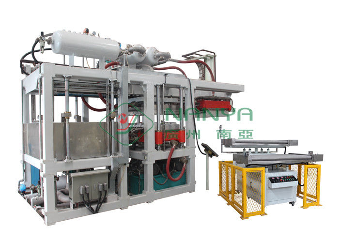 Green Automatic Paper Plate Making Machine / Disposable Plates Making Machine
