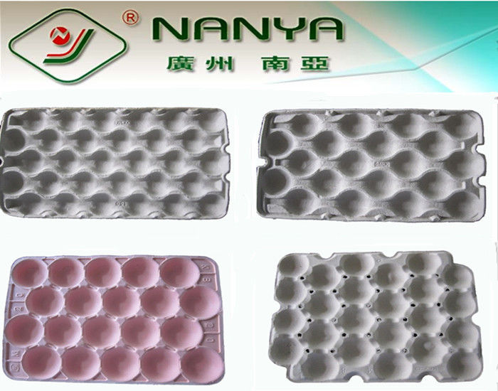 Customized Fruit Tray Pulp Moulded Products support Straw / Wood pulp